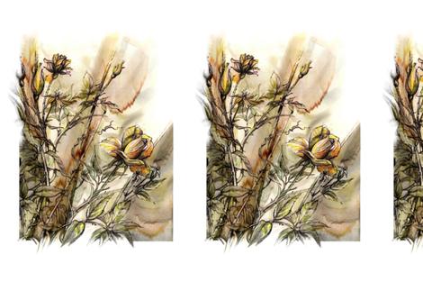 fab_rose_memories fabric by watercolorman on Spoonflower - custom fabric