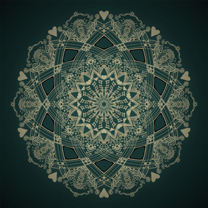 Mandala Project 263 | Gold on Green