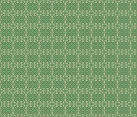 Celtic Knot - 39 crossings (olive green) - 2in fabric by studiofibonacci on Spoonflower - custom fabric