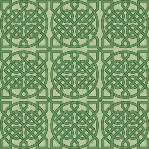 Celtic Knot - 39 crossings (olive green) - 2in