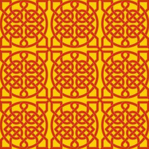 Celtic Knot - 39 crossings (red\gold) - 2in