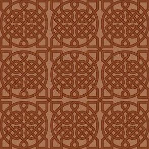 Celtic Knot - 39 crossings (brown) - 2in