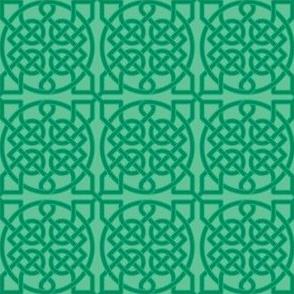 Celtic Knot - 39 crossings (green) - 2in