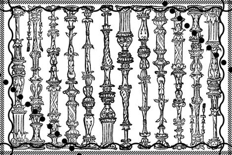 column sketches fabric by jerseymurmurs on Spoonflower - custom fabric