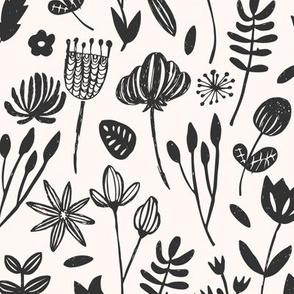 Folk Botanical Print