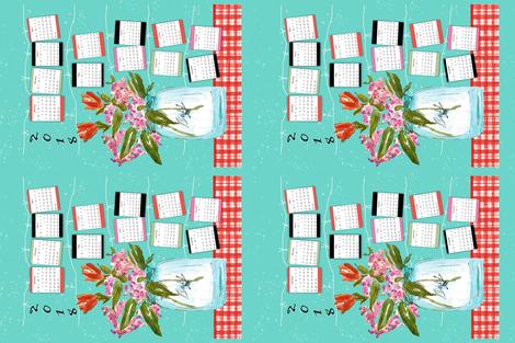 Hello 2018  fabric by designsbyismatshahid on Spoonflower - custom fabric