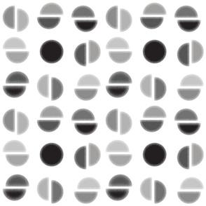 Broken Circles - Grayscale - Colorway 1