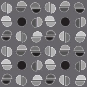 Broken Circles - grayscale - colorway 2