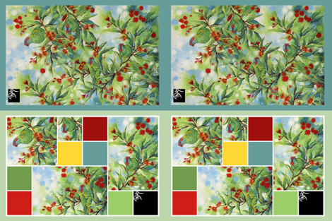 Tea towels with musk lorikeets fabric by kaduffy on Spoonflower - custom fabric