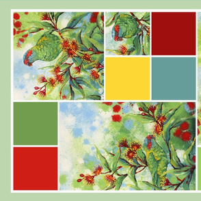 Tea towels with musk lorikeets