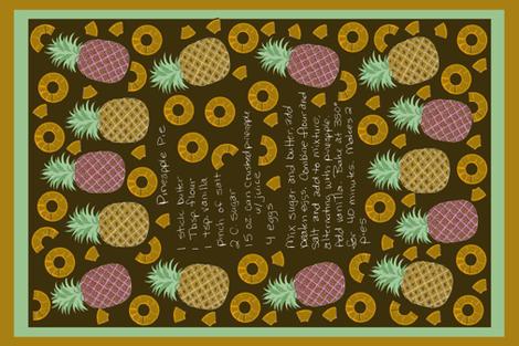 pineapple_pie__tea_towel_3 fabric by leroyj on Spoonflower - custom fabric