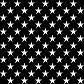 Half Inch White Stars on Black