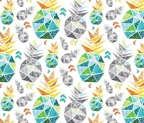 geometric_pineapple_pointillism fabric by mrsmarty on Spoonflower - custom fabric