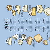 French Cheese 2020 Calendar Tea Towel