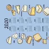 French Cheese 2020 Calendar Tea Towel