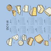 French Cheese 2018 Calendar Tea Towel