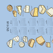 French Cheese 2018 Calendar Tea Towel