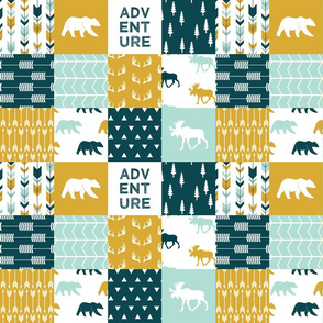 (small scale) the yellowstone collection || wholecloth quilt top