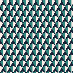 Tri-Color Tiles - Teal