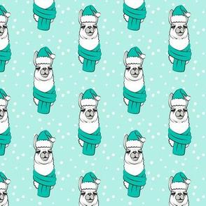 holiday llama on aqua