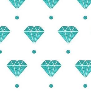Teal diamond polka dot