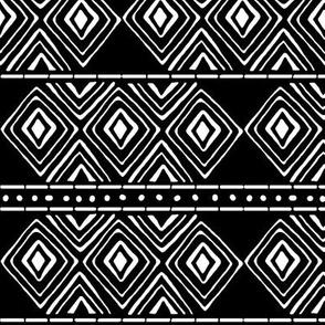 Tribal Mud Cloth No. 3 // Black