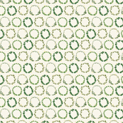 Laurel wreath festive pattern -green