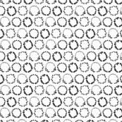 Laurel wreath pattern - black and white