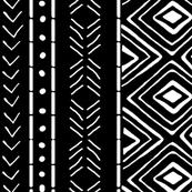 Tribal Mud Cloth No. 2 // Black