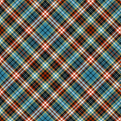 "Ogilvy or Drummond of Strathallan tartan, blue ancient, 6"" diagonal fabric by weavingmajor on Spoonflower - custom fabric"