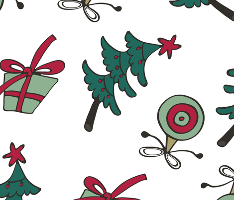 Christmas_pattern fabric by olillia on Spoonflower - custom fabric