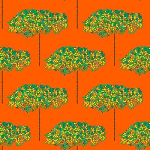 Pointillism Orange Grove