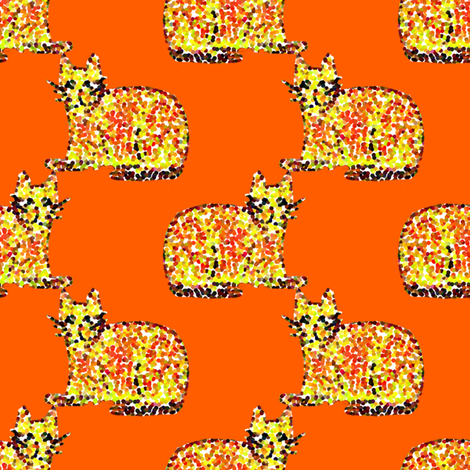 Cats Are Watching! fabric by anniedeb on Spoonflower - custom fabric