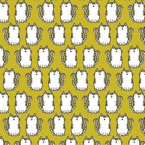 crazy cat lady - mustard