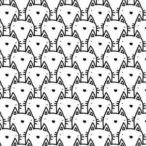 crazy cat lady - little faces
