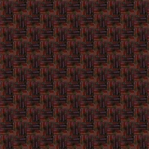 Beaded Basket Weave - Dark Orange