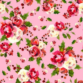 Christmas Floral Pink
