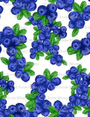Pointilist Blueberries