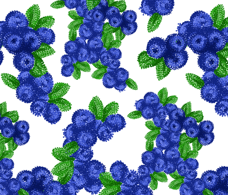 Pointilist Blueberries fabric by anniewilsey on Spoonflower - custom fabric