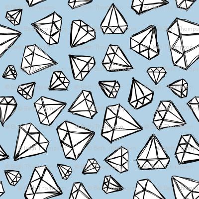Rough Diamonds Powder Blue