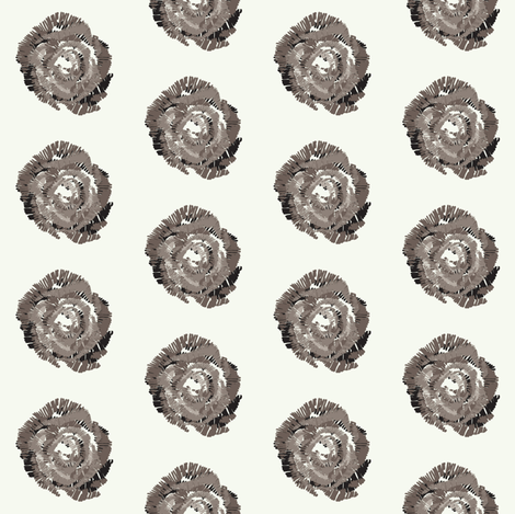 Rose in gray fabric by lulularch on Spoonflower - custom fabric