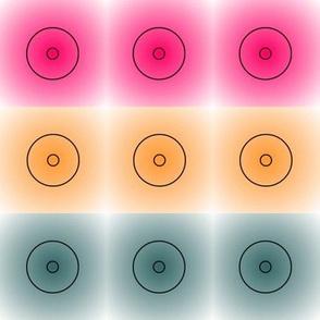 three-up circles