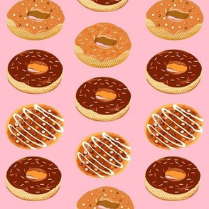 doughnuts with sprinkles candy pink