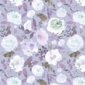 Violet Blushing Florals