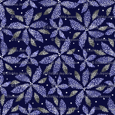 Winter Pointillism Poinsettias