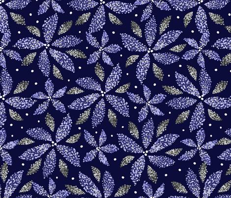 Winter Pointillism Poinsettias fabric by robyriker on Spoonflower - custom fabric