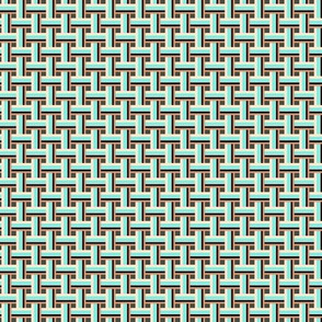 Gray Teal Lattice