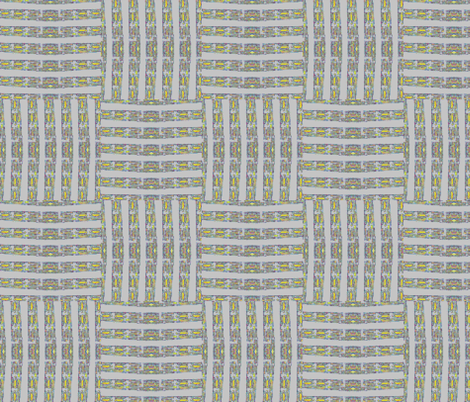 Weave in Grey and Gold fabric by twigsandblossoms on Spoonflower - custom fabric