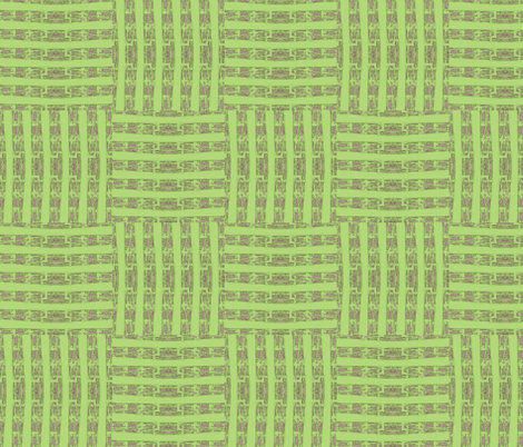 Spring Green Weave fabric by twigsandblossoms on Spoonflower - custom fabric