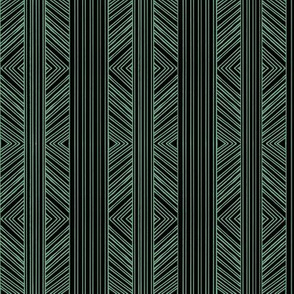 Black and Green Tribal
